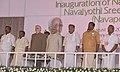 The Vice President, Shri M. Hamid Ansari at the inauguration of the Navapoojitham (90th Birthday) celebrations of Navajyothi Sree Karunakara Guru at Santhigiri Ashram, in Thiruvananthapuram, Kerala.jpg