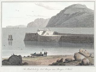 The bath built by Lord Penryn, near Bangor, N. Wales