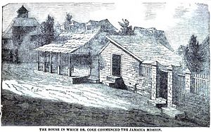 Thomas Coke (bishop) - Image: The house in which Dr. Coke commenced the Jamaica Mission (May 1852, p.55, IX) Copy
