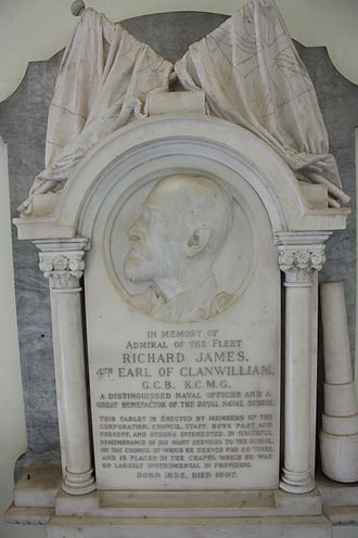 Richard Meade, 4th Earl of Clanwilliam - The memorial to Richard James Meade, Chapel of the Old Naval College, Greenwich