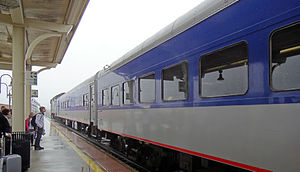 Piedmont (train) - Close-up view of two state-owned coaches on the Piedmont.