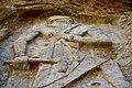 The rock-relief of Naram-Sin at Darband-i Gawr, Qaradagh Mountain, Sulaymaniyah, Kurdistan, Iraq.jpg