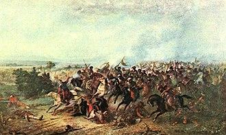 Battle of Călugăreni - Image: Theodor Aman Izgonirea turcilor la Calugareni