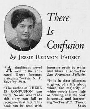 Jessie Redmon Fauset - Advertisement for There is Confusion