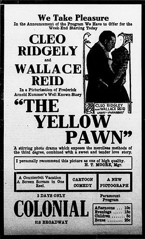 The Yellow Pawn - Newspaper advertisement