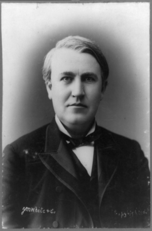 Thomas Edison, half-length portrait, facing front