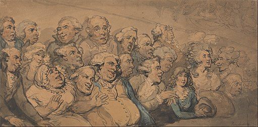 Thomas Rowlandson - An Audience at Drury Lane Theatre - Google Art Project
