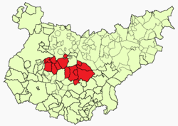 Location in the province of Badajoz