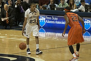 Tim Frazier - Frazier dribbles against Malcolm Delaney of Virginia Tech
