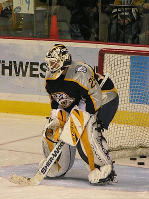 Tomáš Vokoun - Vokoun playing for the Nashville Predators