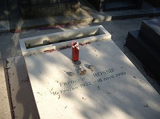 Frédéric Rossif - Frédéric Rossif's tomb in the Cimetière du Montparnasse