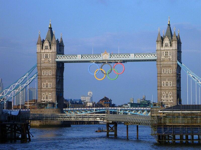 Olympic Rings in London, UK