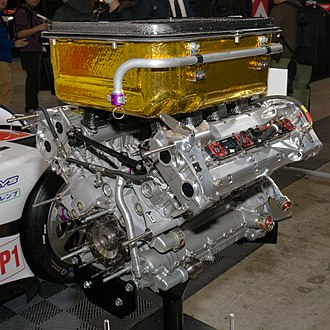 Toyota TS030 Hybrid - The engine of the 2012 Toyota TS030 Hybrid on display at the 2017 Tokyo Auto Salon