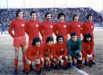 Tractor Sazi F.C. - Tractor Sazi's squad in 1974 before a Takht Jamshid Cup match