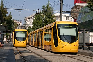 low-floor trams built by Alstom