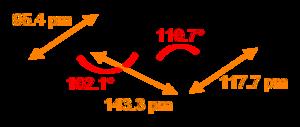 Nitrous acid - Image: Trans nitrous acid 2D dimensions