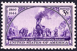 Golden spike - Transcontinental Railroad 75th Anniversary Issue of 1944