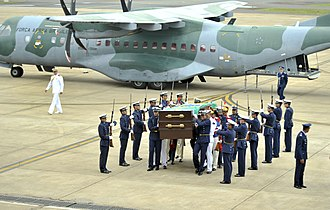 João Goulart - Goulart's remains arrive in Brasília for exhumation, almost 40 years after his death, 14 November 2013.