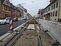 Travaux tram Strasbourg-Koenigshoffen (2019), interstation Comtes - Porte des romains 01.jpg