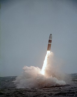 Ballistic missile capable of being launched from submerged submarines