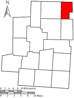 Location of Troy Township in Morrow County