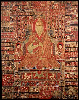 Tsongkapa, thangka from Tibet in the 15th-century, painting on cloth - Google Art Project.jpg