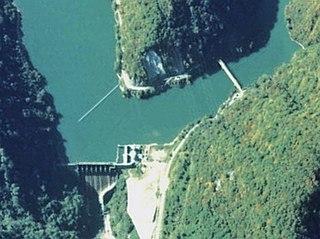 Tsubawara Dam Dam in Shirakawa, Gifu Prefecture