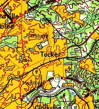 Tucker, Georgia - U. S. Geological Survey 1964