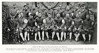 Doggett's Coat and Badge - Twenty winners pictured in 1908