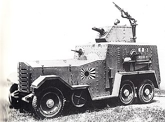 Type 93 Armoured Car - A Type 93 Armoured Car of the Special Naval Landing Forces