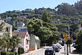 Typical San Francisco Bay Area geography. Houses built on steep rolling hills.jpg