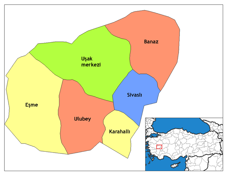 فائل:Uşak districts.png