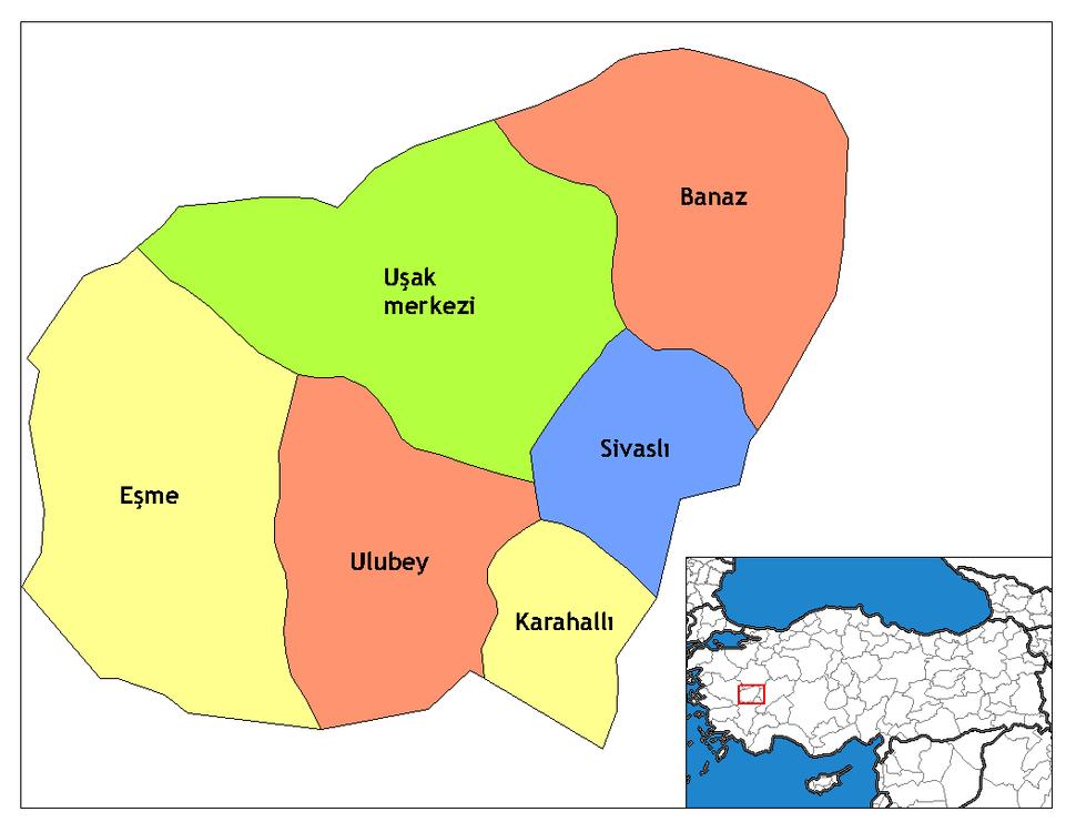 Uşak districts
