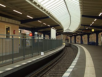 Olympia-Stadion (Berlin U-Bahn) - Station in 2011