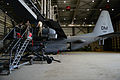 U.S. Airmen with the 41st Expeditionary Electronic Combat Squadron (EECS) perform maintenance on an EC-130H Compass Call aircraft Aug. 25, 2014, at Bagram Airfield, Afghanistan 140825-F-PB969-025.jpg