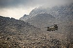 U.S. Army CH-47 Chinook helicopter pilots fly near Jalalabad, Afghanistan, April 5, 2017.jpg
