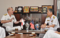U.S. Navy Vice Adm. Matthew L. Nathan, left, U.S. Navy surgeon general and chief of the Bureau of Medicine and Surgery, and Japanese navy Rear Adm. Fumihiko Hirata, commander of the Japan Self-Defense Force 130723-N-YA302-008.jpg