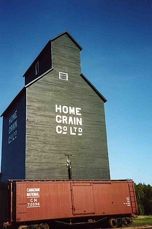 Ukrainian Cultural Heritage Village - Home Grain Co. Elevator, built circa 1922, restored to 1929 appearance.