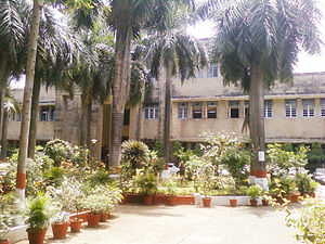 Institute of Chemical Technology - The facade of the main building of the Institute