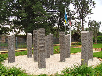 2nd Commando Battalion (Belgium) - Memorial for the dead Belgian UNAMIR personnel in Kigali, Rwanda.
