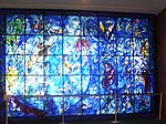 Marc Chagall stained-glass window at the U.N. in New York City.
