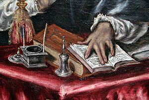 El Greco - Detail of St. Ildefonso (1603)