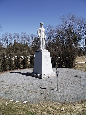 Donald Cook (Medal of Honor) - Statue of Col. Cook on the campus of St. Michael's College in Colchester, Vermont