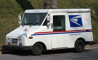 Mail - A USPS mail truck in the United States