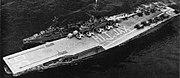 USS Antietam (CVS-36) and USS Forrest Royal (DD-872) underway off Mayport in 1957