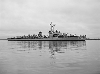 USS James C. Owens - USS James C. Owens (DD-776) underway off Charleston c1950