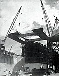USS Lunga Point (CVE-94) under construction at Kaiser Shipyards, circa in March 1944.jpg
