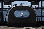 USS Ronald Reagan followed by JCG Kinugasa (MS-01) when the aircraft carrier departs from Yokohama.jpg