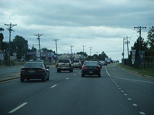 U.S. Route 202 in Delaware - US 202/DE 141 southbound past DE 37 near Wilmington Airport