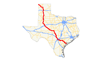 US 87 (TX) map.svg